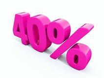 Sinal cor-de-rosa de 40 por cento ilustração royalty free