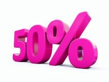 Sinal cor-de-rosa de 50 por cento Imagens de Stock