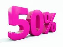 Sinal cor-de-rosa de 50 por cento Imagens de Stock Royalty Free