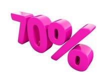 Sinal cor-de-rosa de 70 por cento Imagens de Stock Royalty Free