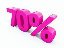 Sinal cor-de-rosa de 70 por cento Fotografia de Stock Royalty Free
