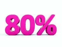 Sinal cor-de-rosa de 80 por cento ilustração royalty free