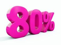 Sinal cor-de-rosa de 80 por cento ilustração stock