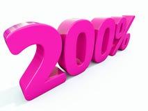 Sinal cor-de-rosa de 200 por cento ilustração royalty free