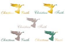 Sinal cristão do anjo da fé Imagem de Stock Royalty Free