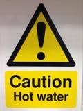 Sinal da água quente Imagem de Stock Royalty Free