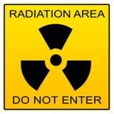 Sinal da área da radiação Foto de Stock Royalty Free
