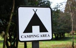 Sinal da área de acampamento foto de stock royalty free