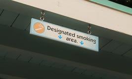 Sinal da área de fumo Foto de Stock Royalty Free