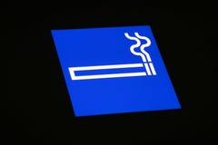Sinal da área de fumo fotografia de stock royalty free