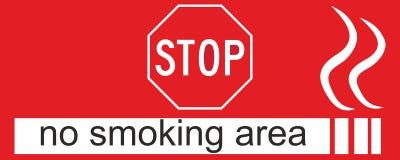 Sinal da área não fumadores Fotografia de Stock