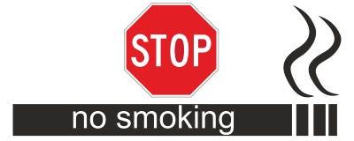 Sinal da área não fumadores Fotografia de Stock Royalty Free