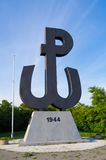 Sinal da âncora, estado secreto polonês Imagens de Stock