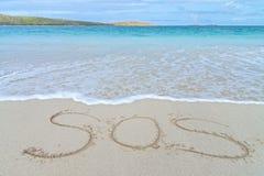 Sinal da aflição do SOS fotos de stock royalty free