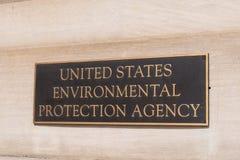 Sinal da Agência de Proteção Ambiental fotos de stock