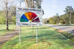 Sinal da avaliação do perigo do fogo imagens de stock royalty free