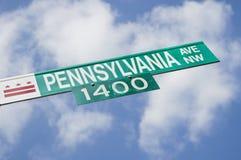 Sinal da avenida de Pensilvânia Foto de Stock