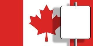Sinal da bandeira de Canadá Fotos de Stock Royalty Free