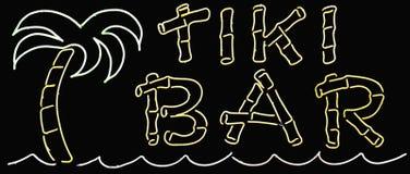 Sinal da barra de Tiki Fotografia de Stock Royalty Free