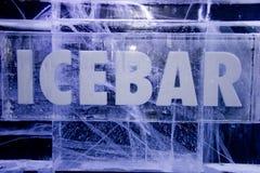 Sinal da barra do gelo Fotografia de Stock