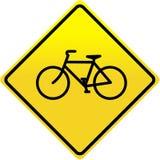 Sinal da bicicleta ilustração stock