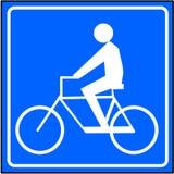 Sinal da bicicleta Fotografia de Stock