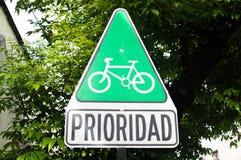 Sinal da bicicleta Imagens de Stock