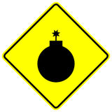 Sinal da bomba Foto de Stock