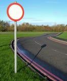 Sinal da borda da estrada Fotografia de Stock Royalty Free