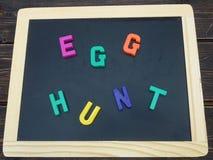 Sinal da caça do ovo Imagem de Stock