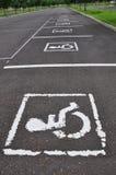 Sinal da cadeira de roda Imagens de Stock