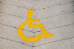 Sinal da cadeira de roda Fotos de Stock Royalty Free