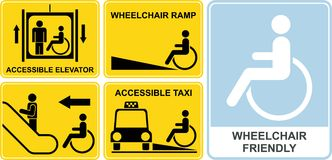 Sinal da cadeira de rodas ilustração royalty free