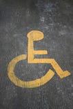 Sinal da cadeira de rodas Imagens de Stock