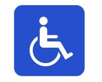 Sinal da cadeira de rodas ilustração do vetor