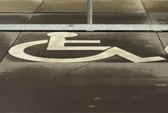 Sinal da cadeira de rodas Imagem de Stock Royalty Free
