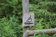 Sinal da cadeira de rodas Foto de Stock
