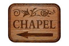 Sinal da capela Imagens de Stock