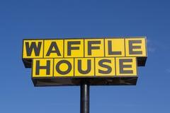 Sinal da casa do waffle Imagem de Stock
