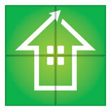 Sinal da casa verde Imagens de Stock Royalty Free