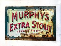 Sinal da cerveja do vintage foto de stock