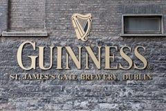 Sinal da cervejaria de Guinness Imagem de Stock Royalty Free