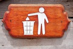 Sinal da cesta de lixo Fotos de Stock
