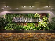 Sinal da chegada do aeroporto imagens de stock royalty free