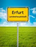Sinal da cidade de Erfurt Imagem de Stock