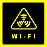 Sinal da cobertura de Wi-Fi Imagem de Stock Royalty Free