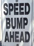 Sinal da colisão de velocidade Foto de Stock