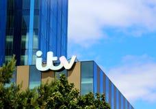 Sinal da construção de ITV Fotografia de Stock Royalty Free