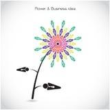 Sinal da cooperação da flor e dos trabalhos de equipa do negócio Junto união sy Fotografia de Stock Royalty Free