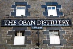 Sinal da destilaria de Oban Foto de Stock